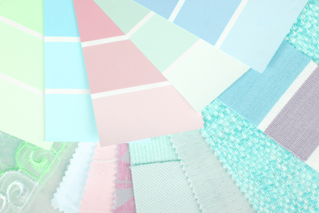 pastel color design selection for interior photo