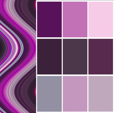 color chart selection for interior Stock Photo