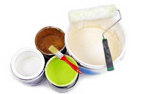 redecorate: paint cans and paint tools