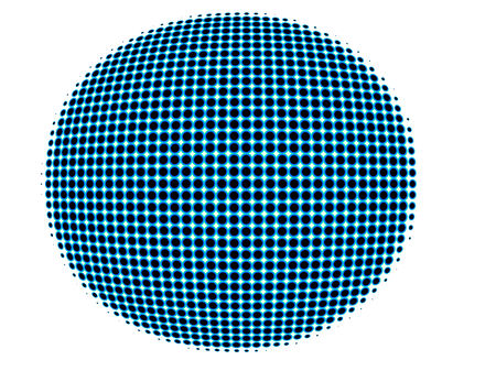 spherical: spotted spherical globe conceptual isolated