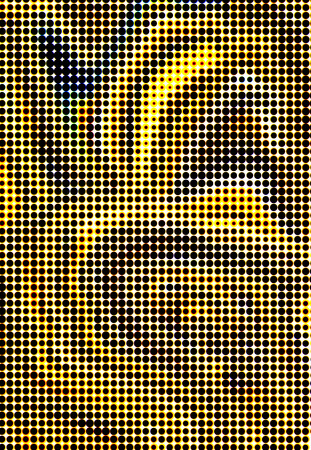 spotted circles golden black background photo