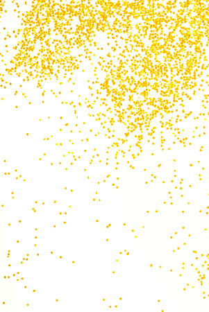 confetti background: golden  glitter sparkle on white  background Stock Photo