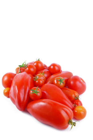 tomato isolated on white photo