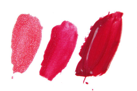 make a choice: lipstick  liquid  isolated on white