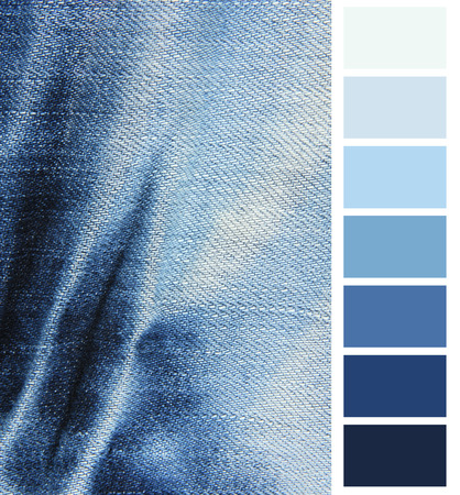 complimentary: Blue denim jeans  color complimentary chart Stock Photo