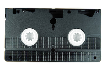 video cassette tape: video tape cassette isolated on white