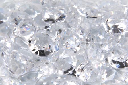 fake diamond: close up of the diamonds