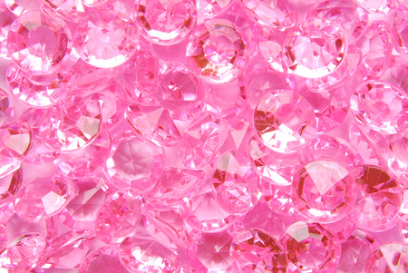 diamond background: close up of the pink diamond background Stock Photo