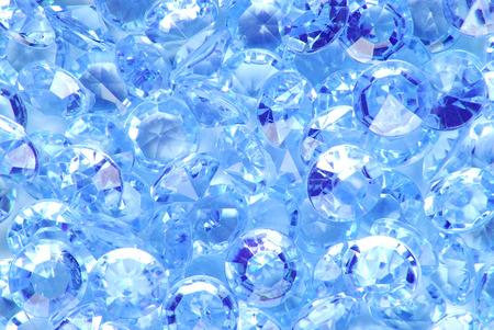 piedras preciosas: cerca del fondo azul del diamante Foto de archivo