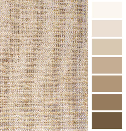 ard: linen hessian fabric color chart complimentary card Stock Photo
