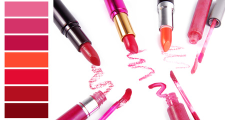 complimentary: complimentary lipstick color chart Stock Photo