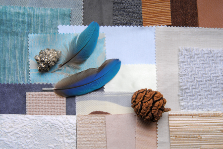 selectie kleuren voor het interieur verfraaien Stockfoto