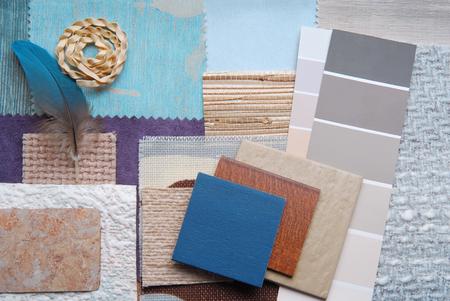 interieur kleur ontwerp selectie-concept Stockfoto