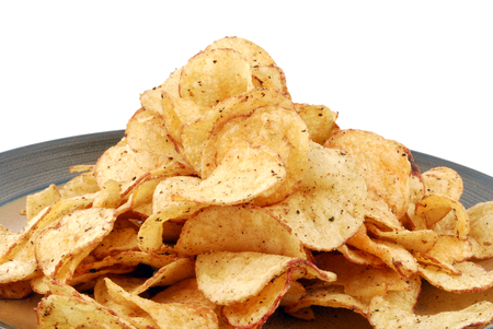 crisps: chips crisps on plate