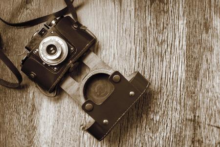 old photo: vintage old film photo camera