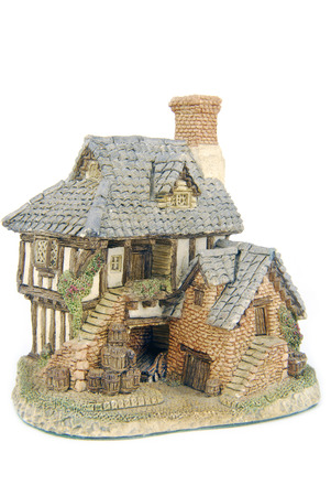 miniture house isolated on white Stock Photo