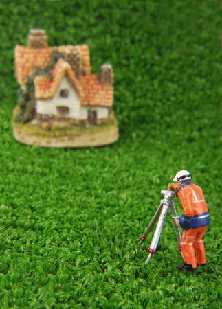 theodolite: miniature model concept Stock Photo
