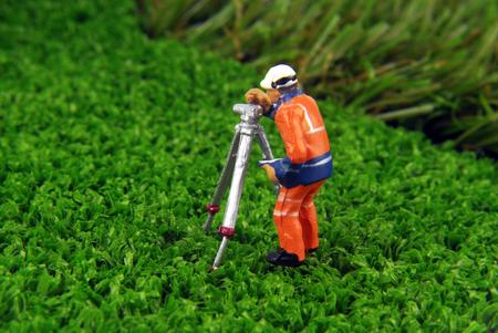 miniature model concept Stock Photo
