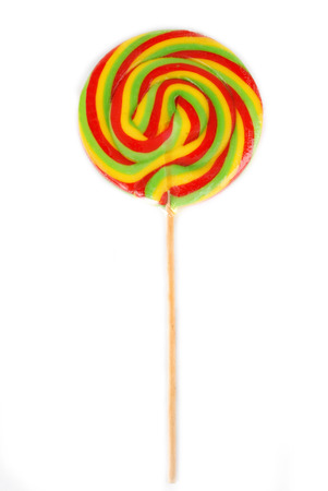 candy lollipop isolated in white