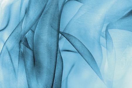 organza fabric in blue color