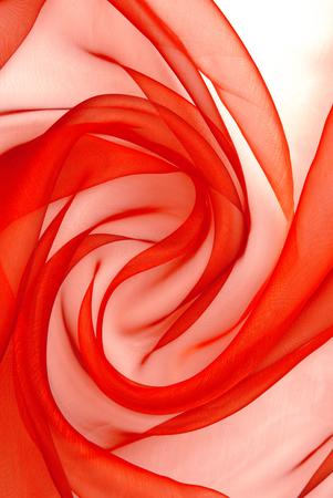 red  organza fabric wavy texture