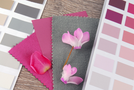 fabric swatches designing combine with colors