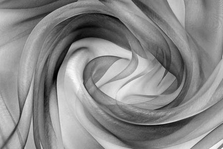 twisted twirl of organza fabric grey texture
