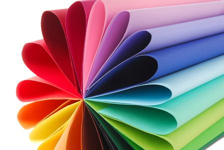 kolorowa kolorowa tekstura papieru złożona Zdjęcie Seryjne