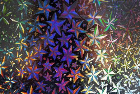 closeup of stars abstract halographic background