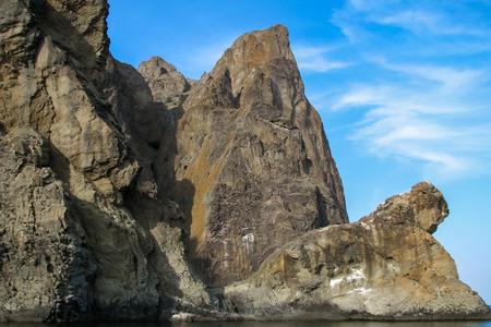 ail: Quay rocks against the blue sky Stock Photo
