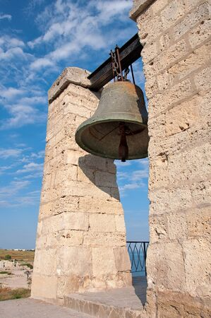 The ancient orthodox bell, ancient architecture, Chersonese, Crimea Stock Photo - 8419363
