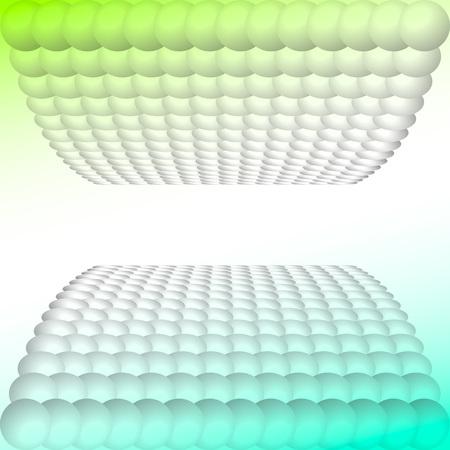 vista: Eggs in Vista or balls in Vista. Illustration