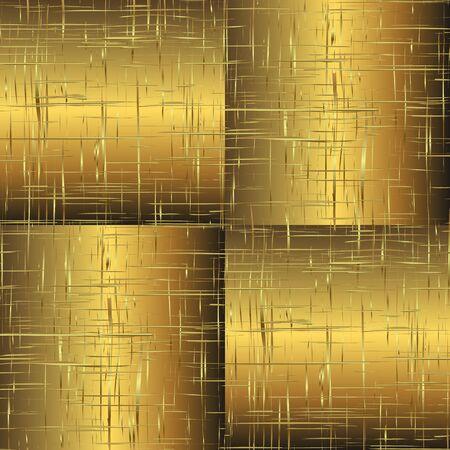 wickerwork: Gold wattled seamless pattern Illustration