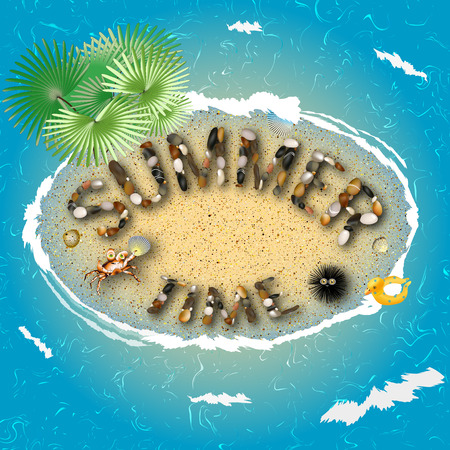 summer time picture fun view from above Illustration