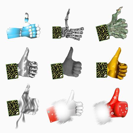 likes: Various hand Likes Illustration