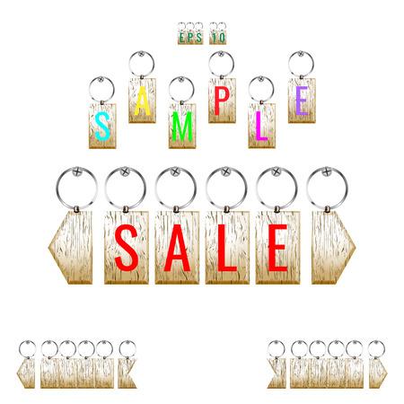 trinket: key-chain pendant template, trinket Illustration