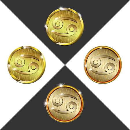 cancer crab: Zodiac Gold coin Cancer (crab)