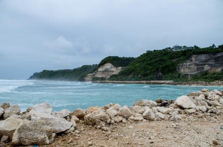 View at the area around Melasti Beach, Bali, Indonesia.