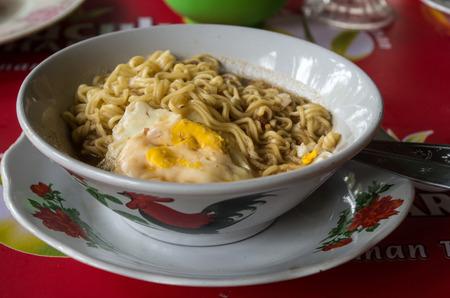MIE REBUS - Indonesian style noodle soup. Archivio Fotografico