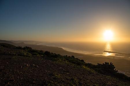 Panoramic coastal view along Sidi Ifni.