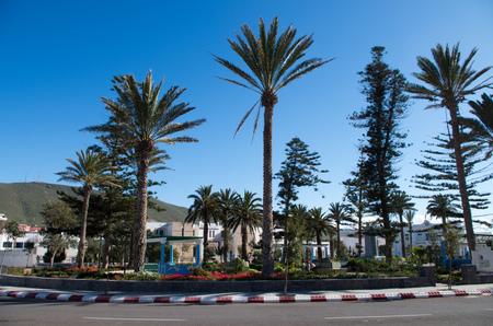 Beautiful roundabout in the center of Sidi Ifni, Morocco.