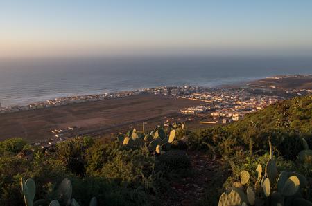 Magic sunset atmosphere in Sidi Ifin, Morocco.