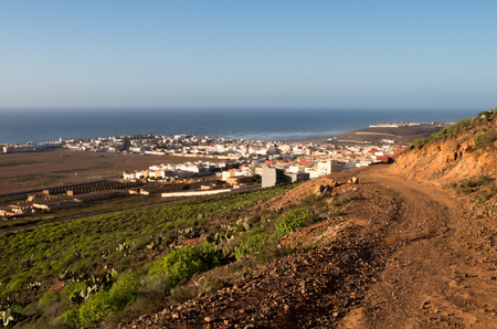 View over Sidi Ifni from a nearby hill.