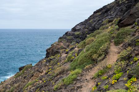 Coastal footpath on Gran Canaria.