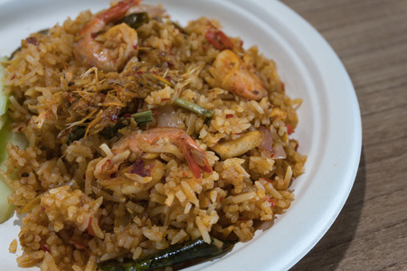 Thai food Fried Rice With Shrimp spicy