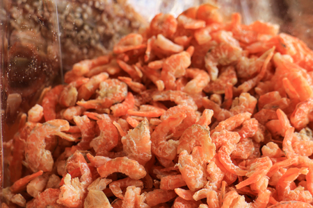 dried shrimp food preservation of Thailand selective focus