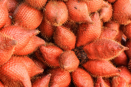 group of Zalacca fruit for sell in the market selective focus