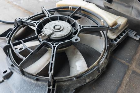 car radiator fan has been dismantling for Maintenance
