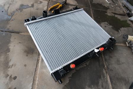 new car radiator ready to assemble 版權商用圖片
