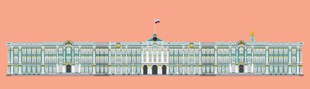 flat style isolate vector of hermitage museum,landmark of st.petersburg Russia illustration,vector element